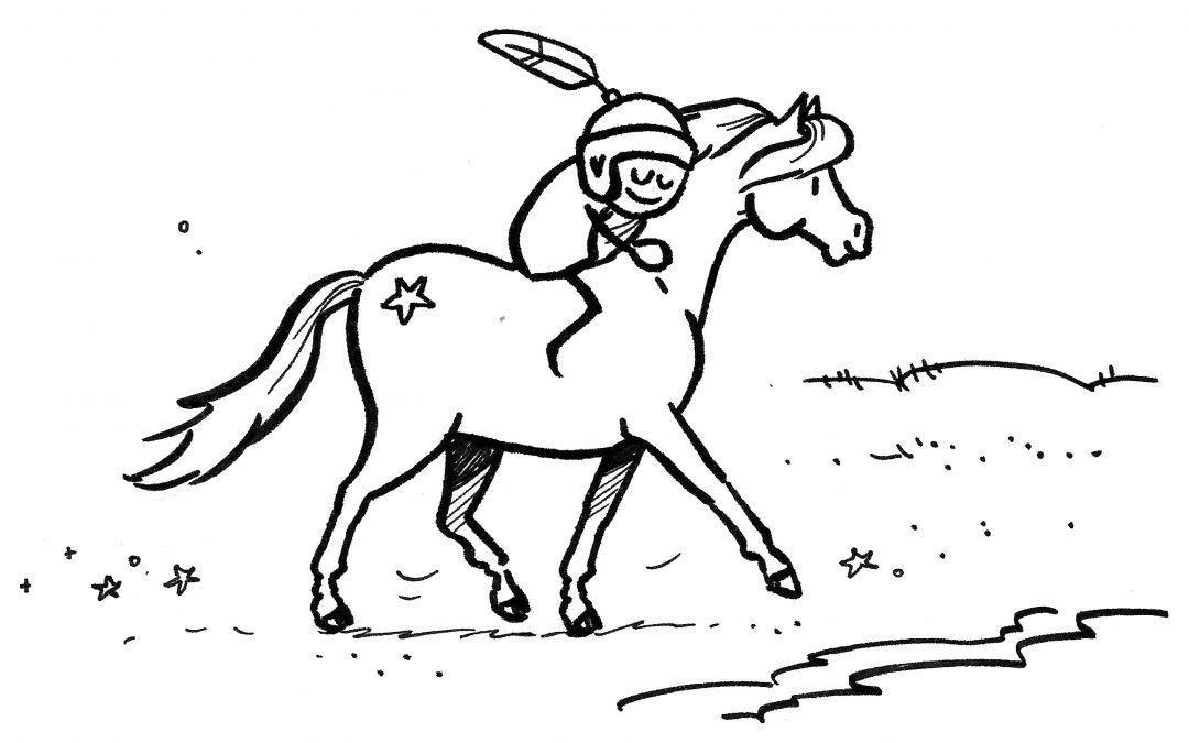 De paarden en de poort naar de hemel
