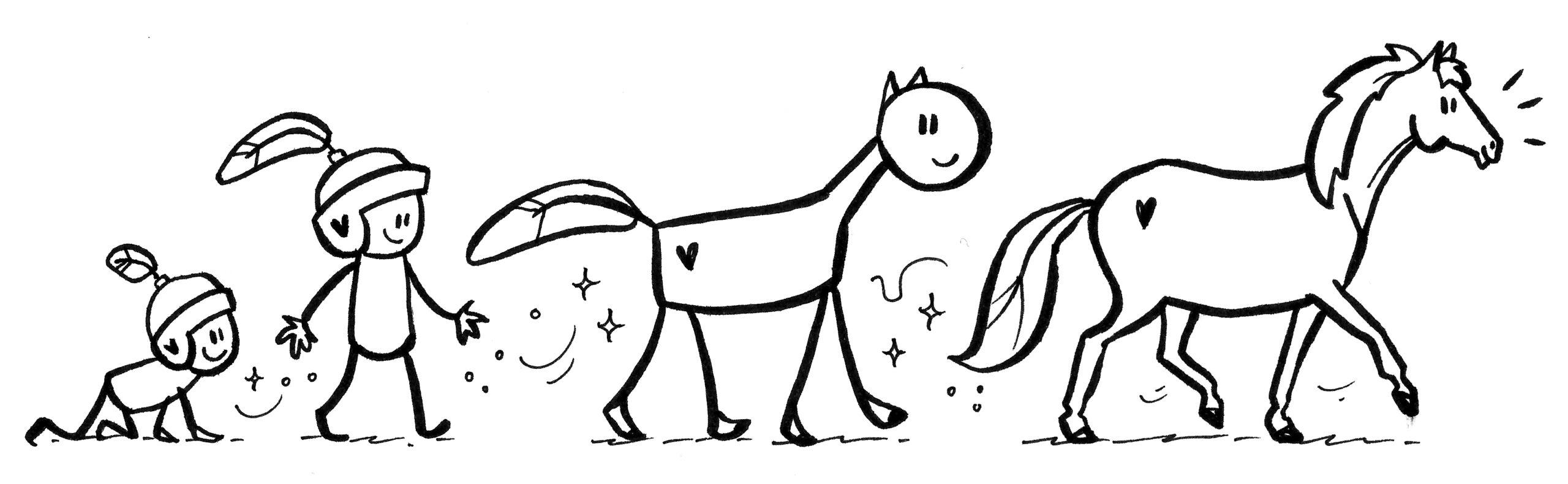evolutie van het paardenkracht spel